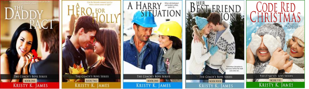 Kristy K. James - 5 Coach's Boys covers