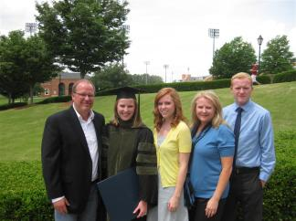 Erica with family for Graduation