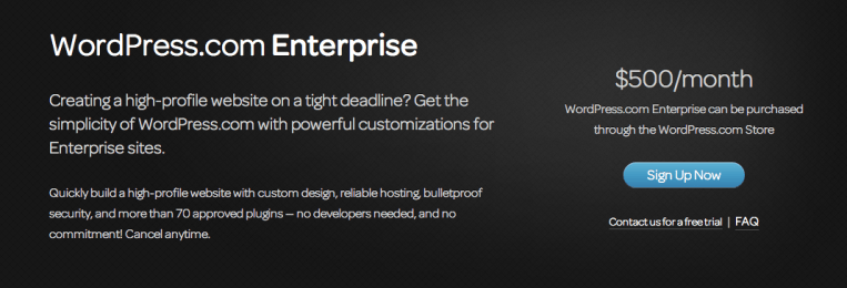 WordPress.com Enterprise wants to fill a gap. Does it?