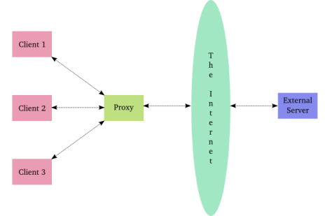 Figure 30: a caching proxy server