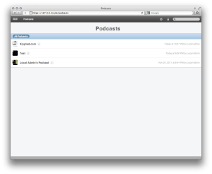 Viewing Podcasts In A Browser