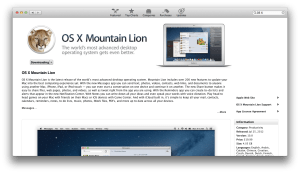 Buy OS X Mountain Lion from the App Store