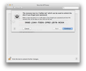 Documenting the FileVault 2 Recovery Key