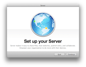 Set Up Your Server Screen When Installing Mountain Lion Server