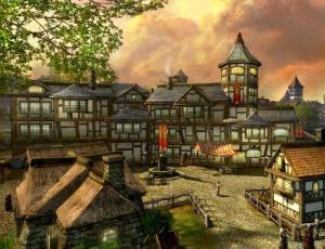 The Town of Bree - screenshot from Lord of the Rings Online