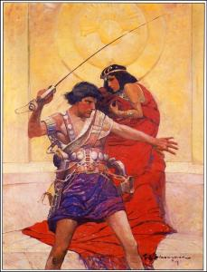"The original cover art by Frank E. Schoonover for ""A Princess of Mars"""