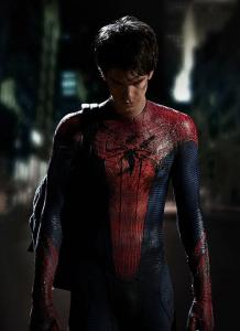 Andrew Garfield in the new suit.