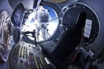 Felix Baumgartner completes final test jump from 97,145.7 feet/29,610 meters on July 25, 2012, for the Red Bull Stratos mission, which aims to set the world record for highest skydiver by leaping from 120,000 feet and breaking the sound barrier.