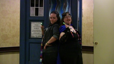 """Liz Carlie and Kristine Cherry (""""Madwoman with a Box"""" and """"Time Siren""""), the masterminds behind """"The Corsair's Closet""""."""