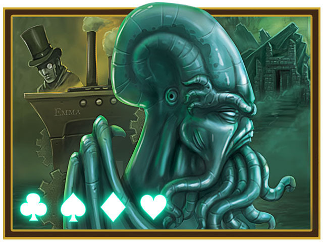 Steampunk Cthulhu Playing Cards, by Nat Iwata