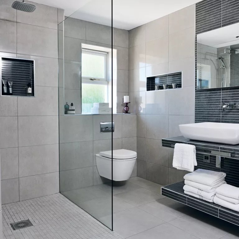 Neutral Wet Room Tiles Rooms