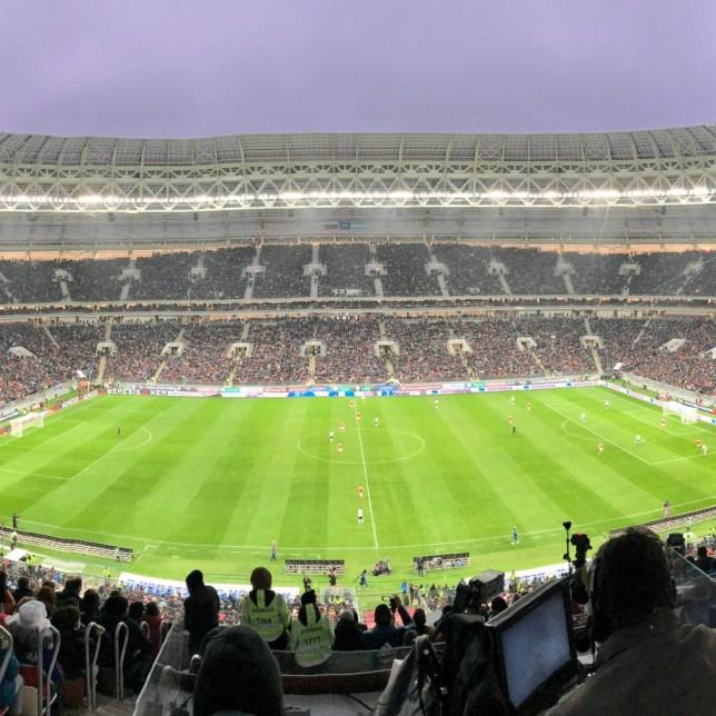 Der Innenraum des Luschniki-Stadions