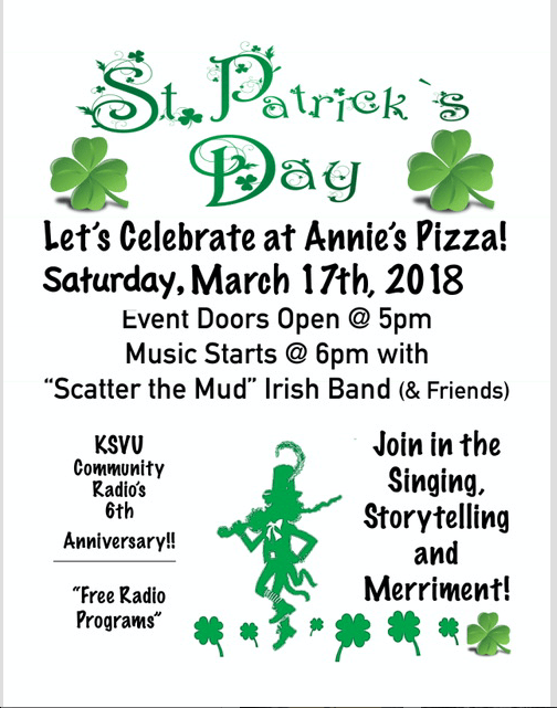 St. Patrick's Day Pizza Party