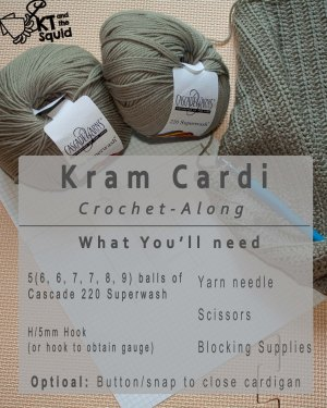 Kram cardi CAL supply list
