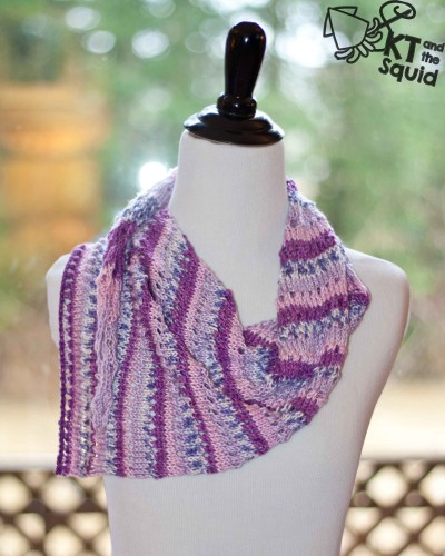 Doty Knit Shawl/Scarf Free Pattern | KT and the Squid