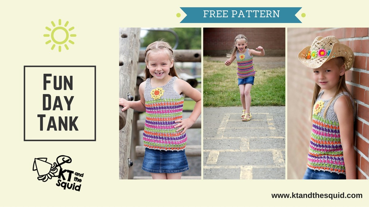Fun Day Tank: Free Crochet Pattern | KT and the Squid