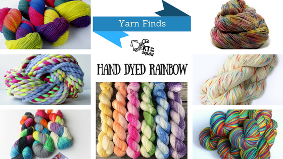 Yarn Finds Hand Dyed Rainbow | KT and the Squid