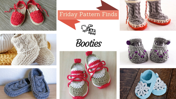 Friday Pattern Finds Baby Booties | KT and the Squid