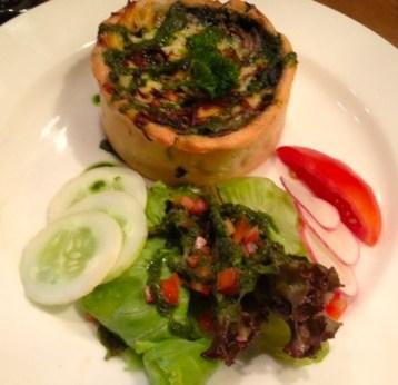 Delicious Spinach & Mushroom Quiche at LPQ