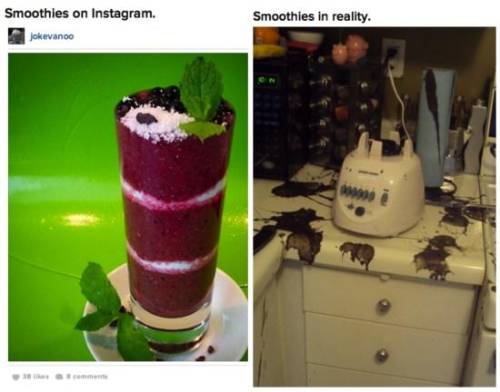 Food on insta v reality
