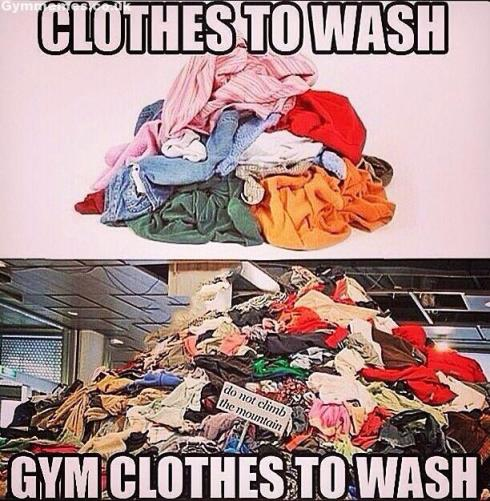 Gym clothes to wash