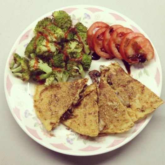 Cheese & Mushroom Quesadilla
