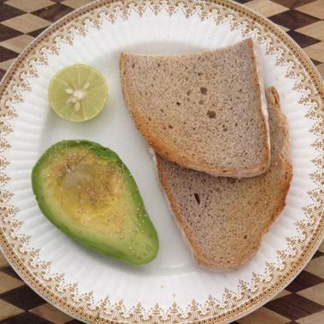Avocado, Toast, Lemon