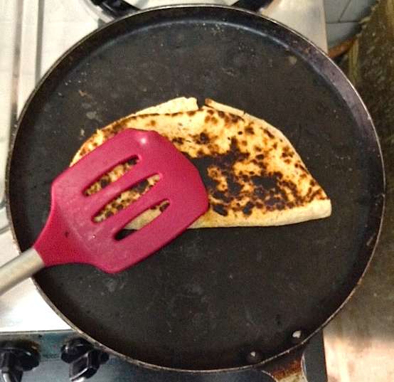 Vegan Quesadilla with Spatula