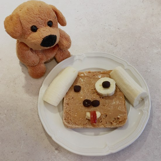 Peanut butter doggy toast