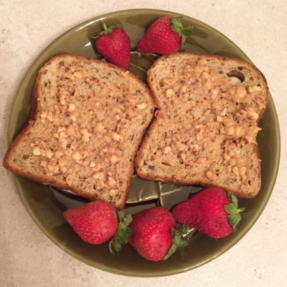 Crunchy PB Toast with Strawberries