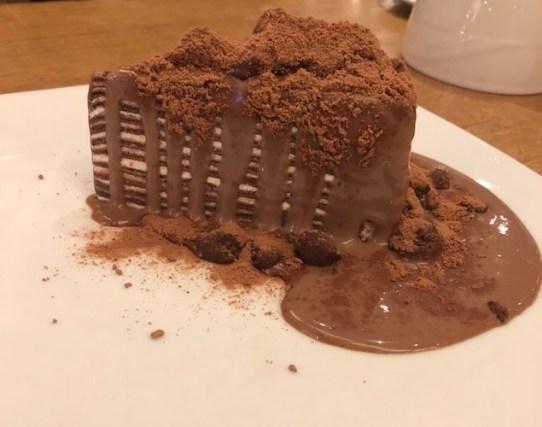 The most divine Milo Volcano Crepe Cake
