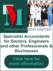 Morgan Menzies specialist accountancy services - advert