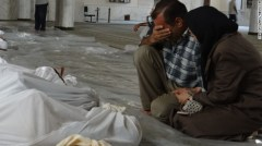 Mourning victims of chemical attack in Syria