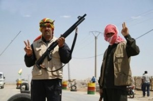 YPG fighters are resisting jihadists