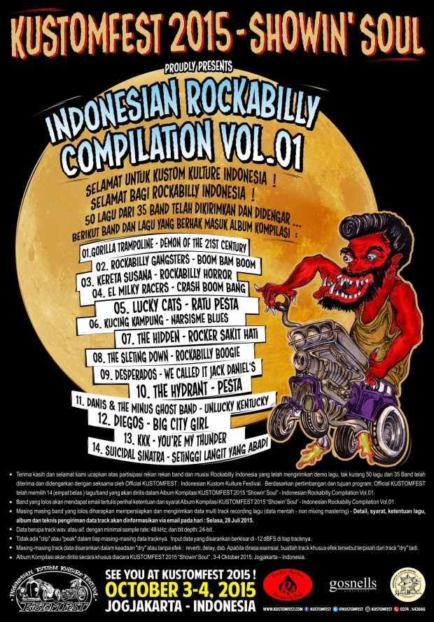 KUSTOMFEST 2015 ROCKABILLY INDONESIA Vol 01