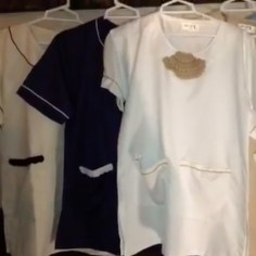 Nannies uniforms available in White, Beige