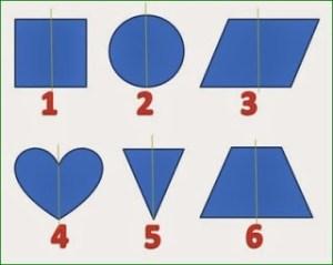 حل لغز أي من الأشكال الهندسية يعتبر الشاذ بين المجموعة