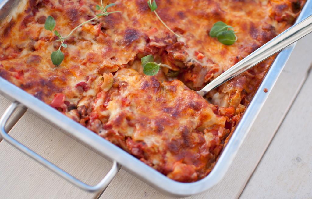 Lasagne med grønsaker