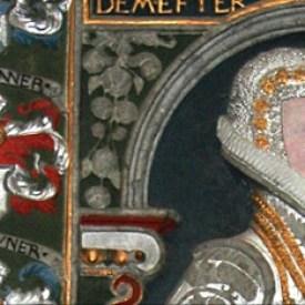 Udsnit af Margrethe Skovgaards imponerende gravminde i Odense Domkirke