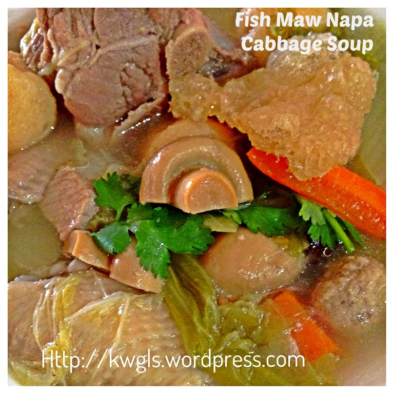 how to cook napa cabbage soup
