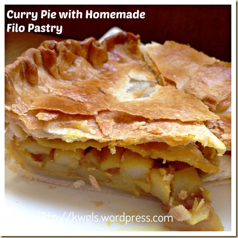 Homemade Filo Pastry Curry Pie With Filo Pastry And