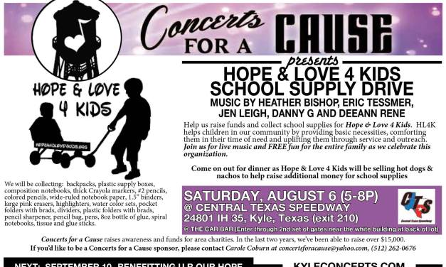 Concerts for a Cause – August 2016