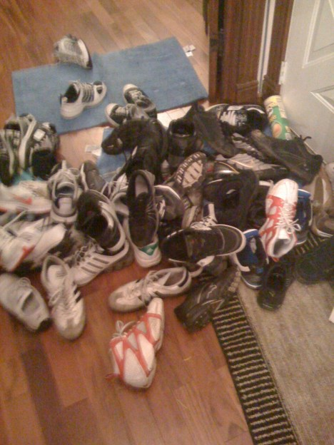 Pile 1 of shoes, this was half the amount