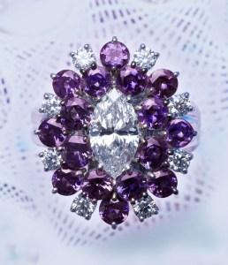 Alexandrite & Diamond Ring AT159