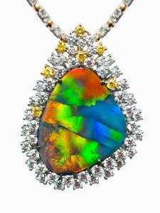 Black Opal Brooch / Pendant TR0020