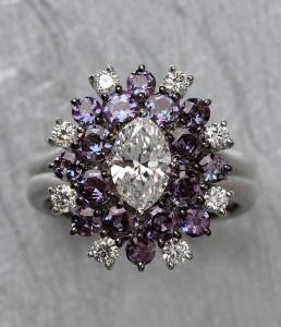 Alexandrite & Diamond Ring BC4586