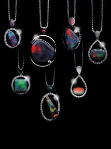Black Opal Pendants