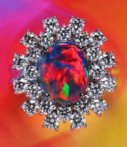 Black Opal Ring AT143