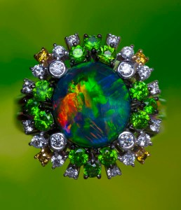Black Opal Ring RT0011