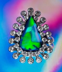 Black Opal Ring AT171